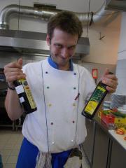 Olivový olej a červený vinný ocet